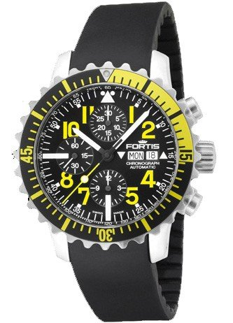 Fortis Mens Watch Maritim B-42 Marinemaster Chronograph Yellow Automatic 671.24.14 K