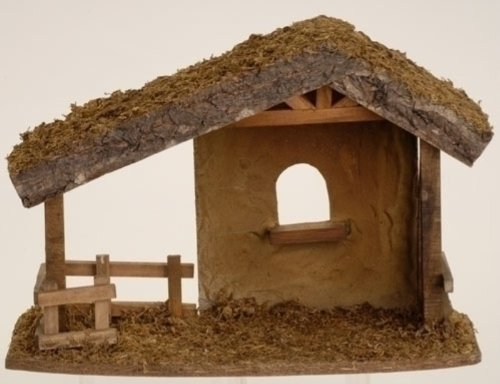 Fontanini Wooden Stable * Nativity Village Collectible 50556 ()