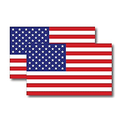 American Flag Magnet Decal 5 inch x 3 Inch 2 Pack - Heavy Duty for Car Truck SUV: Automotive