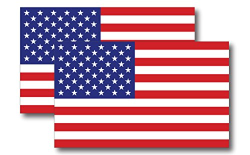 Flag Magnet American Car (American Flag Magnet Decal 5 inch x 3 Inch 2 Pack - Heavy Duty for Car Truck SUV)