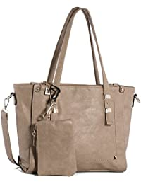 Women Fashion Handbags Top-Handle Shoulder Bags PU Leather Tote Bags Crossbody Purse