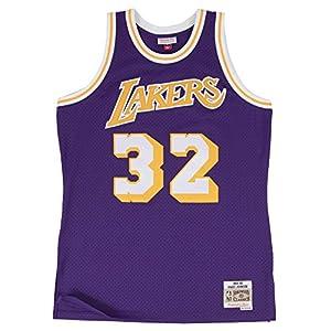 Magic Johnson Los Angeles Lakers Mitchell & Ness NBA Throwback HWC Purple Jersey