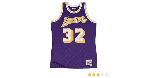a78bc6180 Amazon.com   Mitchell   Ness Los Angeles Lakers Mens Jersey 32 Magic Johnson  Swingman Purple   Clothing