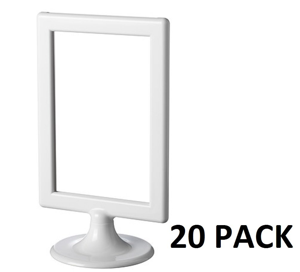 NEW IKEA TOLSBY White Picture Frame Fits 2 Photos Wedding Table Number