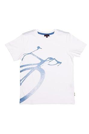 Paul Smith Junior Camiseta BIKE para niño, Color: Blanco: Amazon.es: Ropa y accesorios