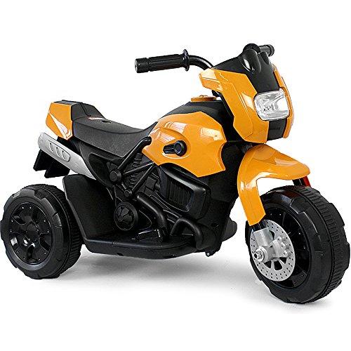 Kinder Elektro Polizei Motorrad Fahrzeug Kindermotorrad Akku Elektromotorrad Schwarz-Gelb