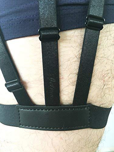 Shirt Stays,Jelinda 2 Piece Mens Elastic Suspender Garter Belts Non-slip Locking Clamps