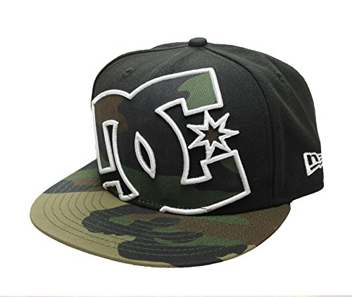 DC Shoes Men's Coverage New Era 59Fifty Hat Cap - Black/Camo (7/38)