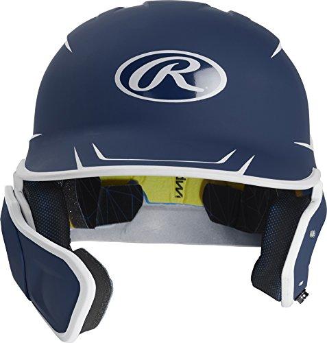 Rawlings MACHEXTL-N7/W7-SR 2019 Mach Baseball Batting Helmet, Navy/White