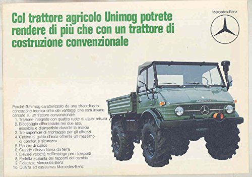 1975 Mercedes Benz Unimog Agriculture Tractor Truck Large Brochure Italian from Mercedes Benz