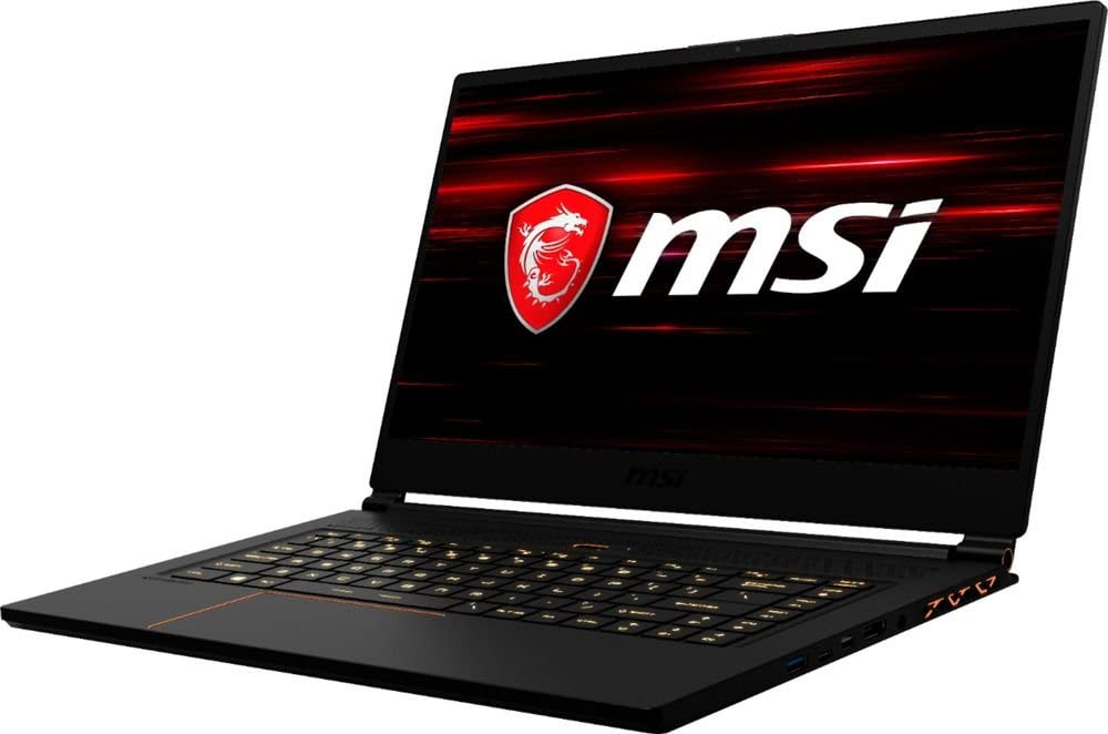 "MSI GS65 Stealth THIN-037 Laptop, 15.6"" 144Hz 7ms FHD Display, Intel i7-8750H 2.2GHz, 16GB DDR4, 512GB SSD, GTX 1070 8GB, 802.11ac, Bluetooth, Win10H (Renewed)"