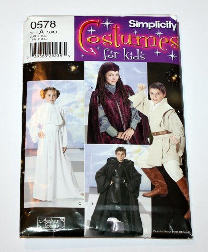 Amidala Costume Pattern (Simplicity 4426 (0578) - Costumes for Kids - Star Wars - Size S, M, L)