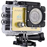 Andoer Q3H 2 Ultra-HD LCD 4K 25FPS 1080P 60FPS Wifi Cam FPV Video Output 16MP Action Camera 170°Wide-Angle Lens with Diving 30-meter Waterproof Case
