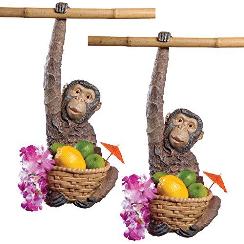 Design Toscano Monkey Business Hanging Sculpture: Set of Two