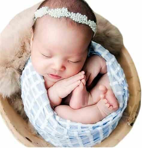 Headband Set NUX Newborn Baby Cute Sleeping Bag Sleeping Muslin Wrap