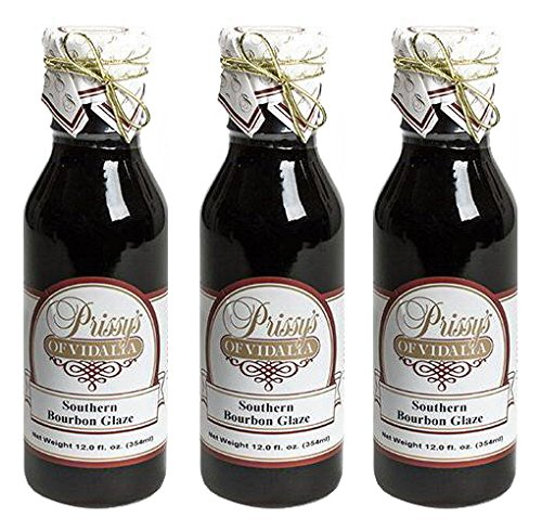 Prissy's of Vidalia Southern Bourbon Sweet Glaze, 12 Fl Oz (Pack of 3)