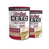 SlimFast 2 Piece Keto Meal Replacement Powder Vanilla Cake Batter, 2.2 Pound