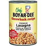 Chef Boyardee Lasagna Pasta in Tomato and Meat Sauce, 15 Ounce