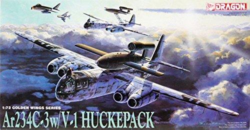 プラッツ 1/72 第二次世界大戦 ドイツ空軍 アラドAr234C-4 w/V-1飛行爆弾 ハックパック プラモデル DR5011