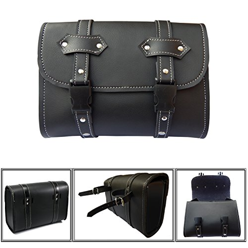 Motorcycle Sissy Bar Bag - Motorcycle Tool Bags Sissy Bar Bags Handlebar Saddle Bag PU Leather Storage Tool Pouch New