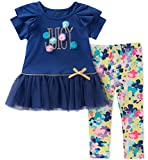 Juicy Couture Big Girls' 2 Pieces Tunic Set, Purple/Print, 12
