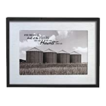 Open Your Eyes & Look At The Fields 22 x 17 Inch Solid Pine Wood Farmhouse Frame Wall Plaque