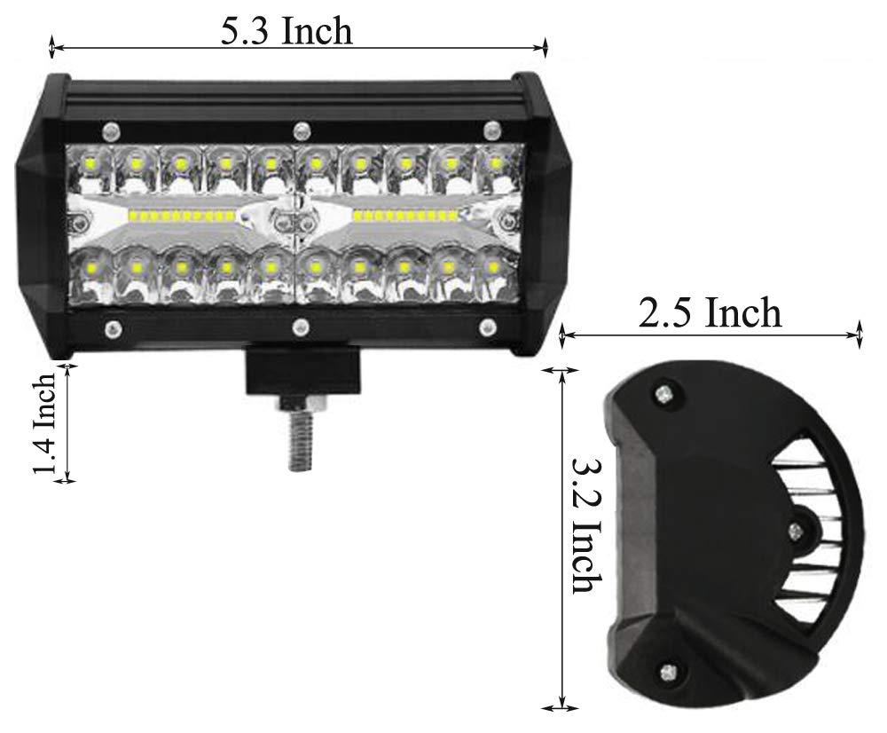 Leetop 2X 72W LED Arbeitsscheinwerfer wei/ß 12V 24V Flutlicht Reflektor Work Light Bar Scheinwerfer Arbeitslicht Offroad Arbeitslampe f/ür Traktor