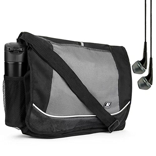 Packard Earphones Hewlett - Black Premium Canvas SumacLife Briefcase Laptop bag for HP Elite series Fit 12.2 13.3 14 15.6 inch laptop + Earphone with Mic
