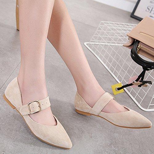 Fashion Piatto Summer Scarpe Sandals Fibbia LJO Tacco Bocca Womens Basse Baotou Quadrata C Pointed 6tpBwxT8qn
