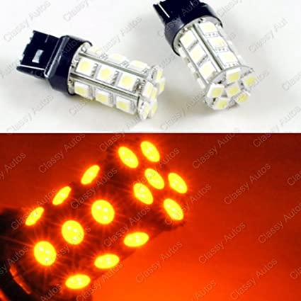 Amazon.com: Classy Autos Yellow / Amber LED Bulbs 24-SMD ...