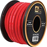 Maxkore MKPW4R100 4-Gauge/100-Feet Maxkore Power Wire (Red)