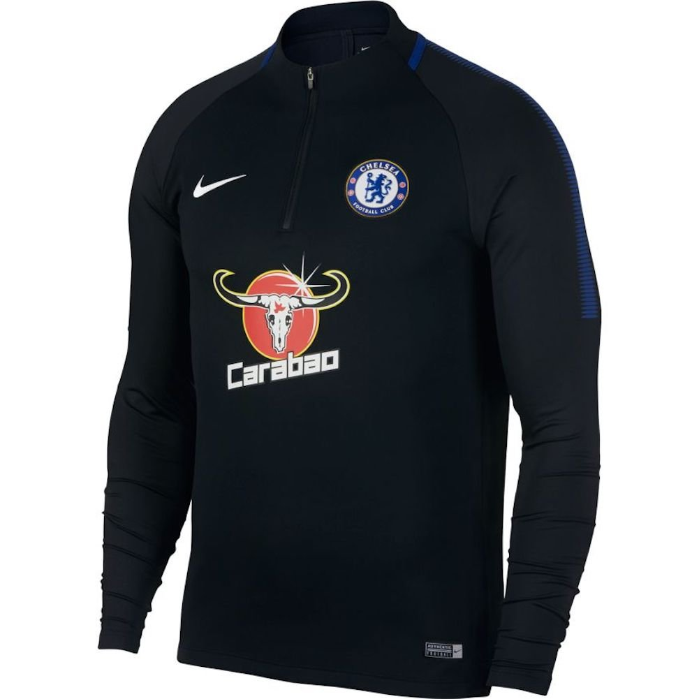 Nike 2017-2018 Chelsea Drill Training Top (schwarz)