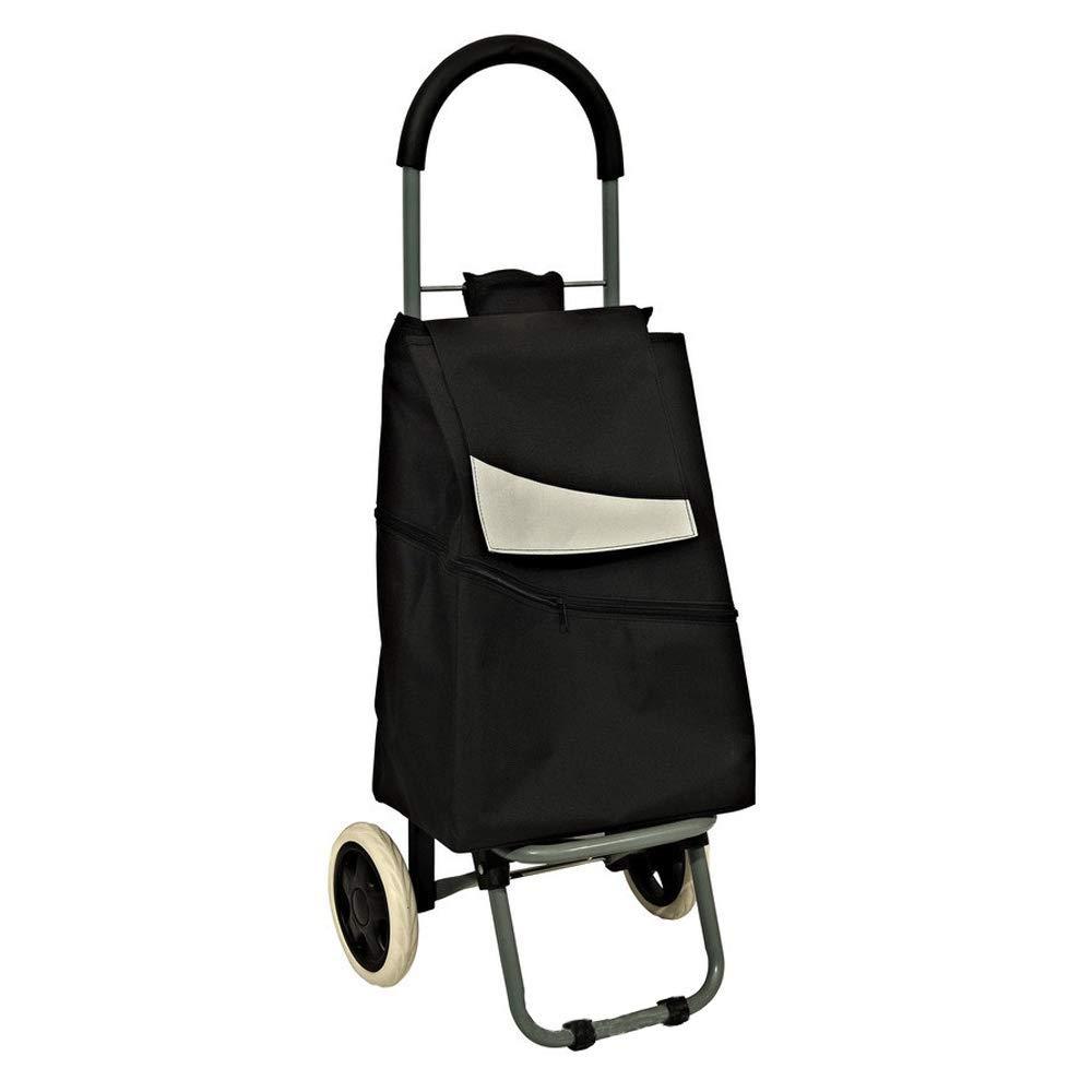 多機能トロリー折り畳み式ショッピングカート、老人買い物用野菜、登る階段、ショッピングカート 青)、小型カート (色 : 黒 青) B07K9GL4W2 (色 黒 黒, SAMURAI:f88fef6e --- anime-portal.club