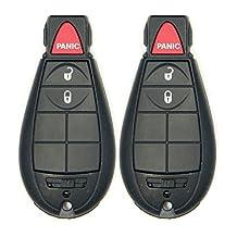 Canada Automotive Supply 2 New Uncut Keyless Remote Fobik Key Fobs for 2010 Dodge Grand Caravan w/FREE DIY Programming Guide