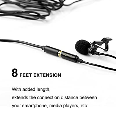 PoP voice 8 Feet 3.5mm Stereo Audio Microphone Headphone Extension Cable Male to Female by PoP voice