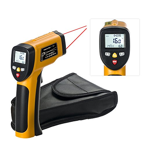 Dual Laser Infrared Thermometer, RISEPRO Digital Non-contact Portable Infrared Thermometer with Dual Laser Target Pointer -50°c to 650°c (-58°F to 1202°F) HT-817 by RISEPRO