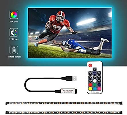 Tira de Luces LED USB, RGB + Blanco con Mando a Distancia RF, Tira de luz Flexible Impermeable IP65, 5050 RGBW TV retroiluminada 1 m, 2 m, 3 m, 4 m: Amazon.es: Hogar