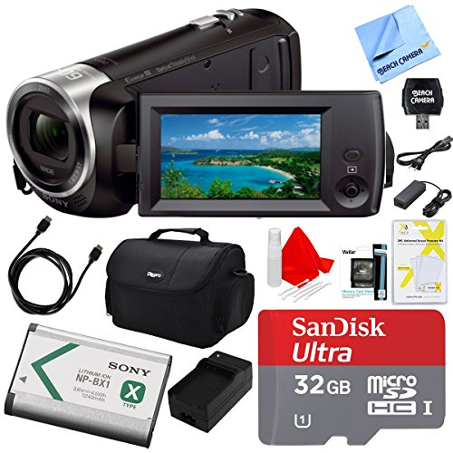 - Sony Handycam CX405 Flash Memory Full HD Camcorder (32GB Bundle)