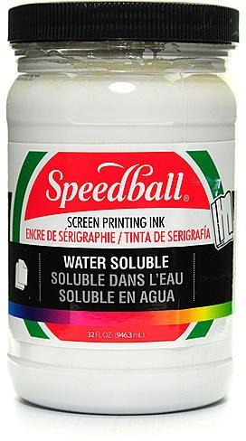Speedball Water Soluble Screen Printing - Speedball Water Soluble Screen Printing Ink (White) - 32 oz. 1 pcs sku# 1837838MA
