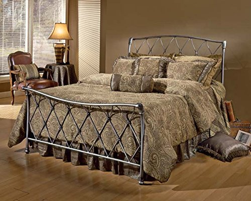Hillsdale Silverton Full Spindle Bed in Brushed Silver