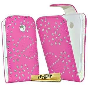 Accessory Master - Funda para Samsung Galaxy Young S6010, diseño de diamantes, color rosa