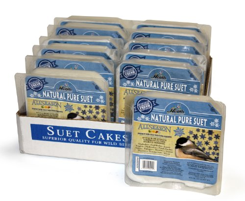 (Heath Outdoor Products DD-10 Natural Pure Suet Cake, Case Of 12)