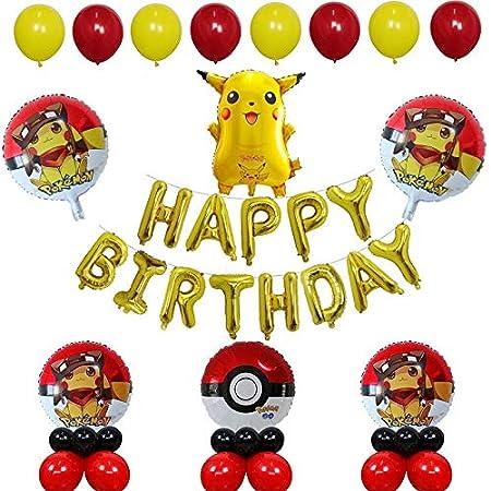 LIUUWO Balloon 30 unids/Set Cartoon Pikachu Pokemon Go Jenny ...
