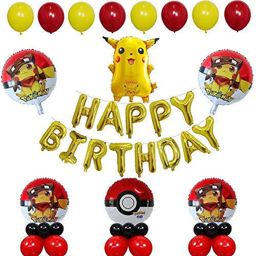 LIUUWO Balloon 30 unids/Set Cartoon Pikachu Pokemon Go Jenny ...