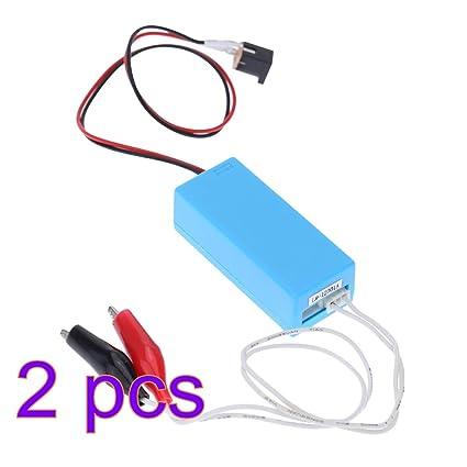 UKCOCO 2 unids 12 V CC de entrada CCFL Inversor Probador CCFL Lámpara de prueba Herramienta