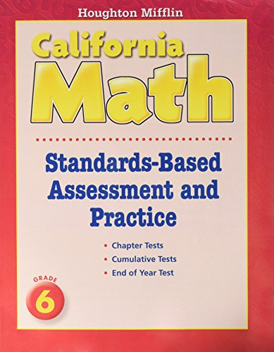 Houghton Mifflin Mathmatics California: Standards-Based Assessment And Practice Book Consumable Level K