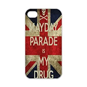 Creative LUCK iPhone 4,4S Case Fashion Mayday Parade is My Drug America Flag iPhone 4,4S 100% TPU (Laser Technology)