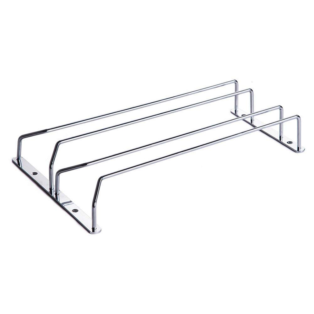 MyLifeUNIT 304 Stainless Steel Under Cabinet Stemware Rack for 6 - 8 Red Wine Glass, 14 x 9 14 x 9 KC15L045