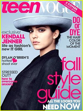Teen Vogue Magazine September 2014 - Kendall Jenner on - Jenner And Kendall Style Kylie