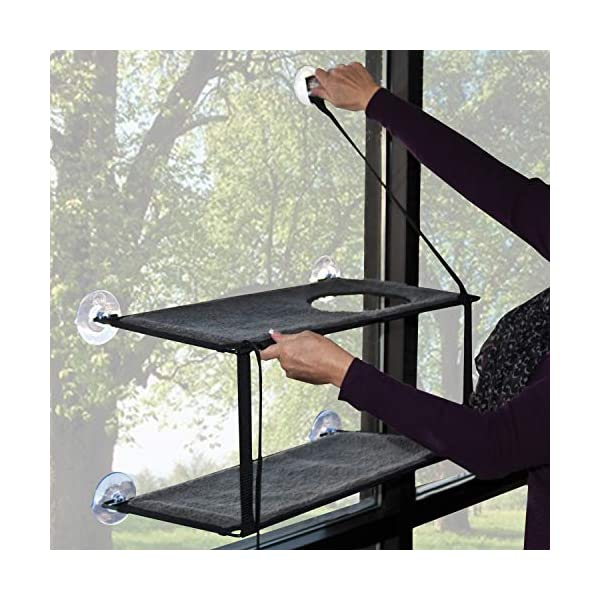 K&H Pet Products EZ Window Mount Kitty Sill - Single Level or Double Stack 6